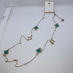 Amrita Singh long Turquoise Chain Necklace